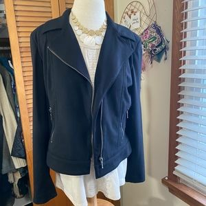 Worthington knit stretch moto jacket blazer